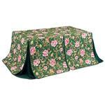 こたつ布団 2点セット 【幅135cm】 長方形 ダイニングテーブル用 掛け布団+上掛け グリーン 洗える 〔リビング 居間〕