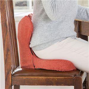 腰痛対策クッション/座布団【スカーレット】幅41cm洗える専用カバー付き『馬具マットプレミアムEX』〔勉強机デスク〕