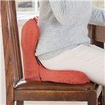 腰痛対策 クッション/座布団 【スカーレット】 幅41cm 洗える専用カバー付き 『馬具マットプレミアムEX』 〔勉強机 デスク〕