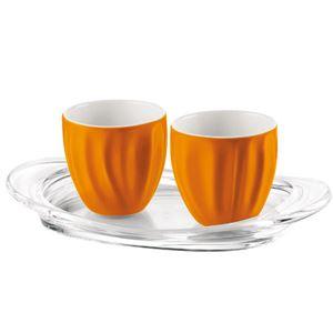 guzzini(グッチーニ) Aqua エスプレッソペア&トレー オレンジ 28060545 in gift box10P25Apr13 fs2gm