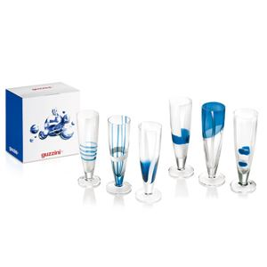 guzzini(グッチーニ) Table Art フルートグラス6P ブルー 28690868 in gift box10P25Apr13 fs2gm
