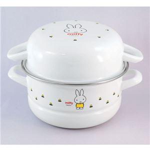 富士ホーロー miffy(ミッフィー) スチーマー18cm(2.4L) MF-18SM IHクッキングヒーター対応 オーブン使用可能 10P25Apr13 fs2gm