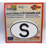 HR プラスチックデコエンブレム S(スウェーデン) ホワイト L