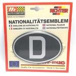 HR プラスチックデコエンブレム D(ドイツ) ブラック L