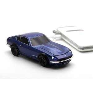 [CassetteCarProducts] 日産 フェアレディZ 240Z 自動車型 モバイルバッテリー ミッドナイトブルー 4500mAh