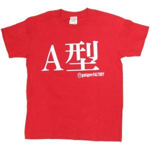 【アホ研究所・アホTシャツ・自虐Tシャツ・おもしろTシャツ】A型 Mサイズ レッド - 拡大画像