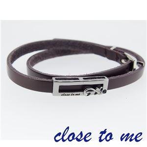 SBR13-037 close to me(クロス・トゥ・ミー) レザーブレスレット メンズ h01
