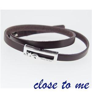 SBR13-038 close to me(クロス・トゥ・ミー) レザーブレスレット レディース h01