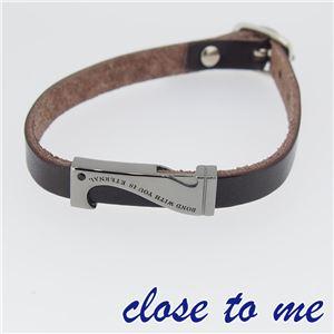 SBR13-039 close to me(クロス・トゥ・ミー) レザーブレスレット メンズ h01