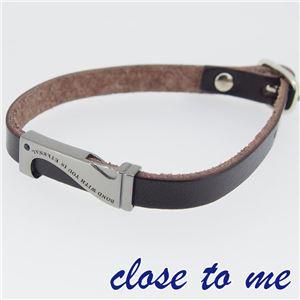 SBR13-039 close to me(クロス・トゥ・ミー) レザーブレスレット メンズ h02