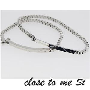 SBR11-001002 close to me St(クロス・トゥ・ミー) ステンレスブレスレット ペア f04
