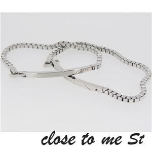 SBR11-001002 close to me St(クロス・トゥ・ミー) ステンレスブレスレット ペア f05