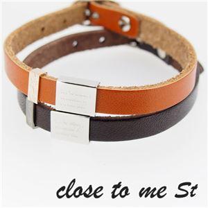 SBR11-003004 close to me St(クロス・トゥ・ミー) レザーブレスレット ペア h01