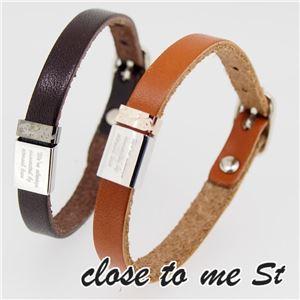 SBR11-003004 close to me St(クロス・トゥ・ミー) レザーブレスレット ペア h03