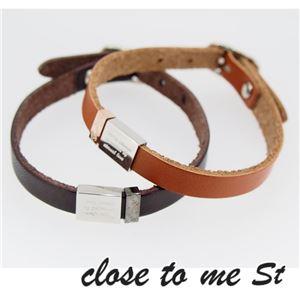 SBR11-003004 close to me St(クロス・トゥ・ミー) レザーブレスレット ペア f04