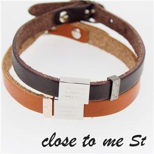 SBR11-003004 close to me St(クロス・トゥ・ミー) レザーブレスレット ペア f06