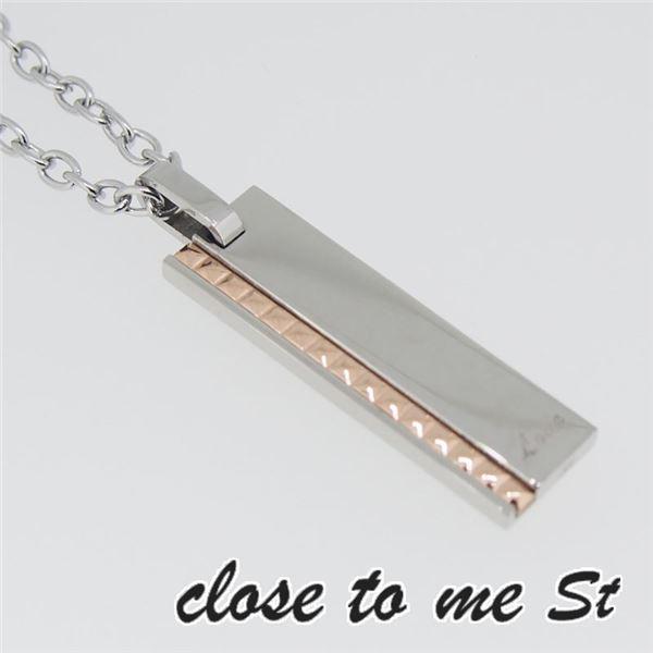 SN11-016 close to me St(クロス・トゥ・ミー) ステンレスネックレス レディースf00