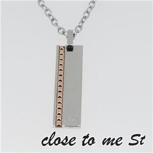 SN11-016 close to me St(クロス・トゥ・ミー) ステンレスネックレス レディース h03