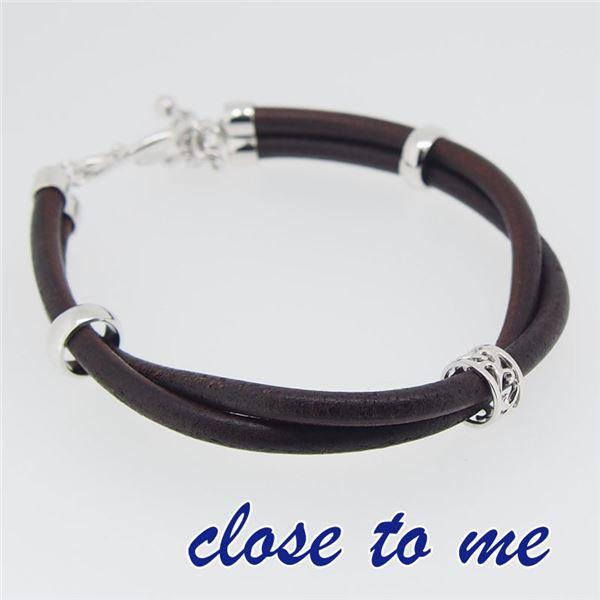 sbr13-012 close to me(クロス・トゥ・ミー) レザーブレスレット レディースf00