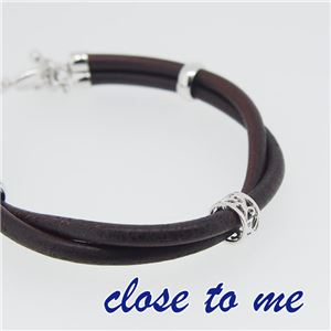 sbr13-012 close to me(クロス・トゥ・ミー) レザーブレスレット レディース h02
