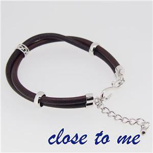 sbr13-012 close to me(クロス・トゥ・ミー) レザーブレスレット レディース h03