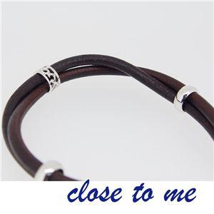 sbr13-012 close to me(クロス・トゥ・ミー) レザーブレスレット レディース f05
