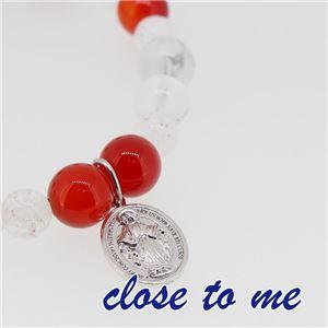 sbr13-024 close to me(クロス・トゥ・ミー) 天然石数珠ブレスレット レディース - 拡大画像