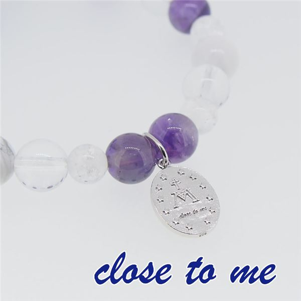 sbr13-026 close to me(クロス・トゥ・ミー) 天然石数珠ブレスレット レディースf00