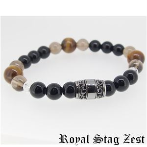 sbr25-004 Royal Stag ZEST(ロイヤル・スタッグ・ゼスト) 天然石数珠ブレスレット・パワーストーンブレスレット メンズ h01