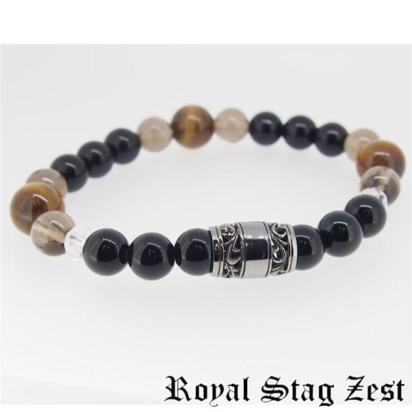 sbr25-004 Royal Stag ZEST(ロイヤル・スタッグ・ゼスト) 天然石数珠ブレスレット・パワーストーンブレスレット メンズf00