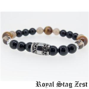 sbr25-004 Royal Stag ZEST(ロイヤル・スタッグ・ゼスト) 天然石数珠ブレスレット・パワーストーンブレスレット メンズ h02