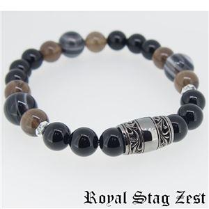 sbr25-005 Royal Stag ZEST(ロイヤル・スタッグ・ゼスト) 天然石数珠ブレスレット・パワーストーンブレスレット メンズ - 拡大画像