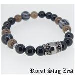 sbr25-005 Royal Stag ZEST(ロイヤル・スタッグ・ゼスト) 天然石数珠ブレスレット・パワーストーンブレスレット メンズ