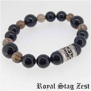 sbr25-006 Royal Stag ZEST(ロイヤル・スタッグ・ゼスト) 天然石数珠ブレスレット・パワーストーンブレスレット メンズ - 拡大画像