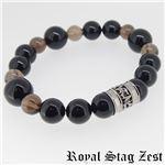 sbr25-006 Royal Stag ZEST(ロイヤル・スタッグ・ゼスト) 天然石数珠ブレスレット・パワーストーンブレスレット メンズ
