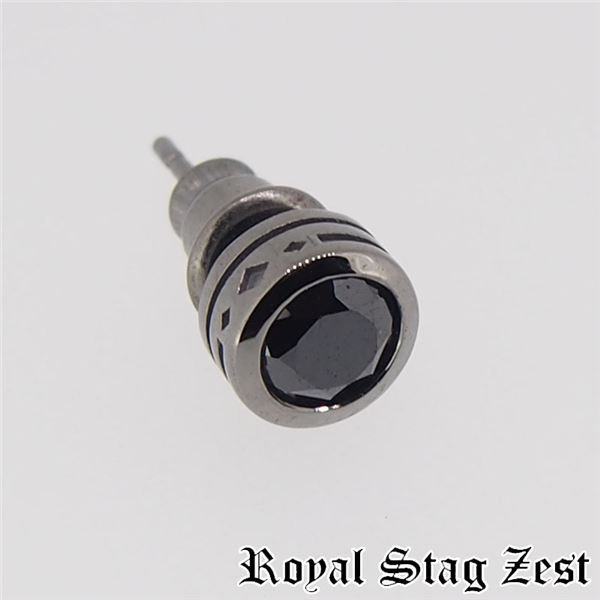 sp25-006 Royal Stag ZEST(ロイヤル・スタッグ・ゼスト) シルバースタッドピアス メンズf00