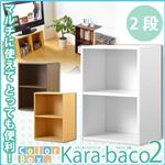 カラーボックスシリーズ【kara-baco2】2段 ホワイト