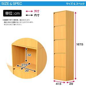 A4サイズ収納OK!扉付きカラーボックス【-5ivox-フィボックス】 ホワイト h02