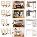 階段付き ロフトベット 【RESIDENCE-レジデンス-】 ブラウン