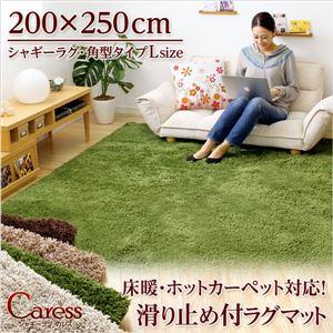 (200×250cm)マイクロファイバーシャギーラグマット【Caress-カレス-(Lサイズ)】 グリーンの詳細を見る