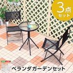 ベランダガーデン3点セット【リオン-LION-】(ガーデン セット) ブラック