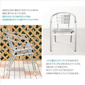 ガーデンアルミチェア幅広【カメリア -CAMELIA-】2脚セット(ガーデン イス 2脚 ワイド)