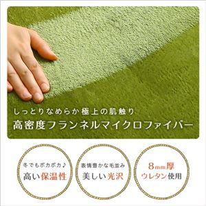 洗える キッチンマット/絨毯 【Mサイズ 50×210cm/グリーン】 高密度フランネルマイクロファイバー 『Naltorea-ナルトレア-』