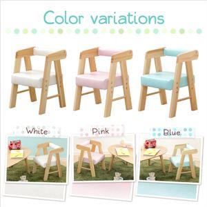 ロータイプ キッズチェア/子供椅子 【ホワイト...の紹介画像3