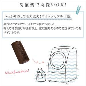 フィラメント キッチンマット/フロアマット 【Sサイズ 50×180cm/ブラウン】 洗える オールシーズン対応 『Watte-ヴァッテ-』