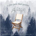 人気の折りたたみガーデンチェア(2脚セット)アカシア材を使用   Alisa-アリーザ- ブラウン