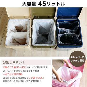 大容量 ダストボックス/フタ付きゴミ箱 【ホワ...の紹介画像4