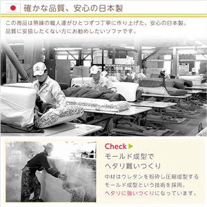 コーナーソファー/フロアソファー 単品 【3人掛け/グリーン】 分割 起毛素材 日本製 『Luculia-ルクリア-』