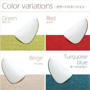 ジャンボ ビーズクッション/フロアチェア 【グリーン】 伸縮素材 しっかり生地 日本製 『Ovo-オーヴォ-』