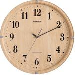 掛け時計(電波時計)電波式・連続秒針 メーカー保証1年 ライブリーアリス ライトブラウン